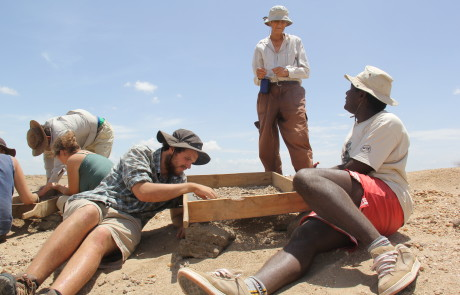 An excavation with Meave Leakey
